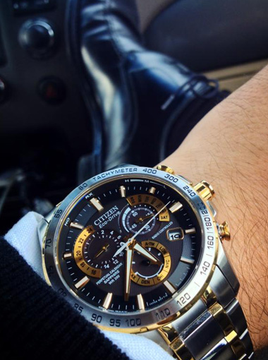 Perpetual Calendar Watch >> Citizen Citizen Eco-Drive Perpetual Chrono A-T AT4004-52E Atomic Timekeeping